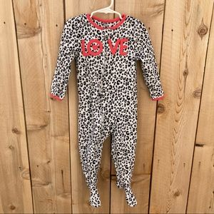 Carter's 2T leopard print footed pajamas